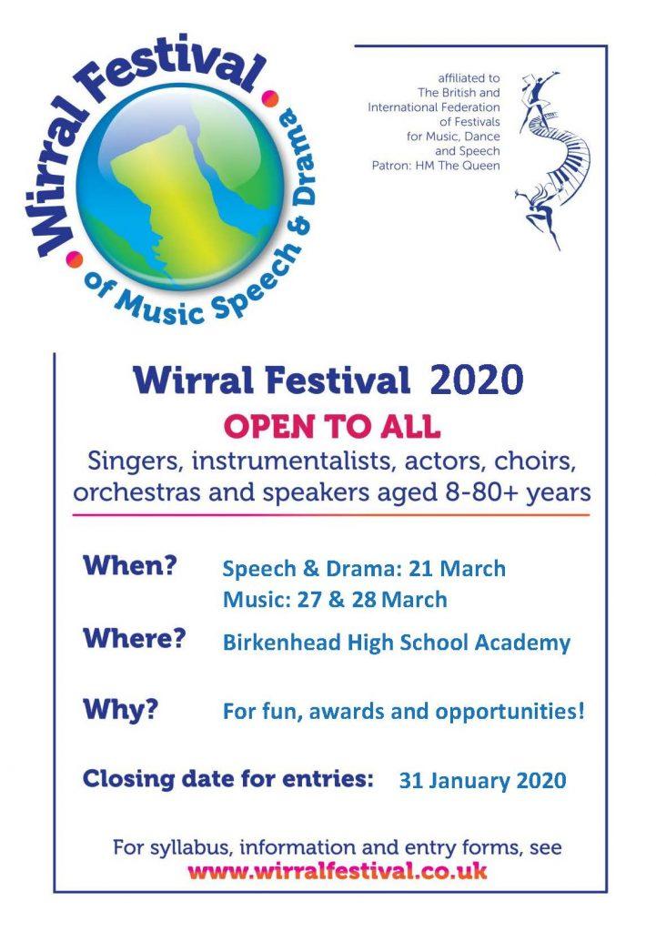 Wirral Festival 2020 Information Leaflet